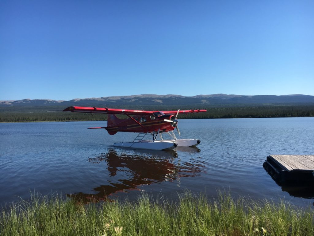 Airplane landed on water