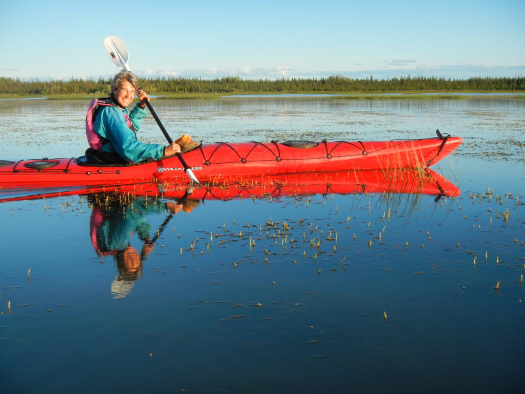 woman in kayak
