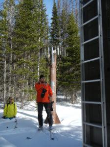 Steven Fassnacht and a snow sensor