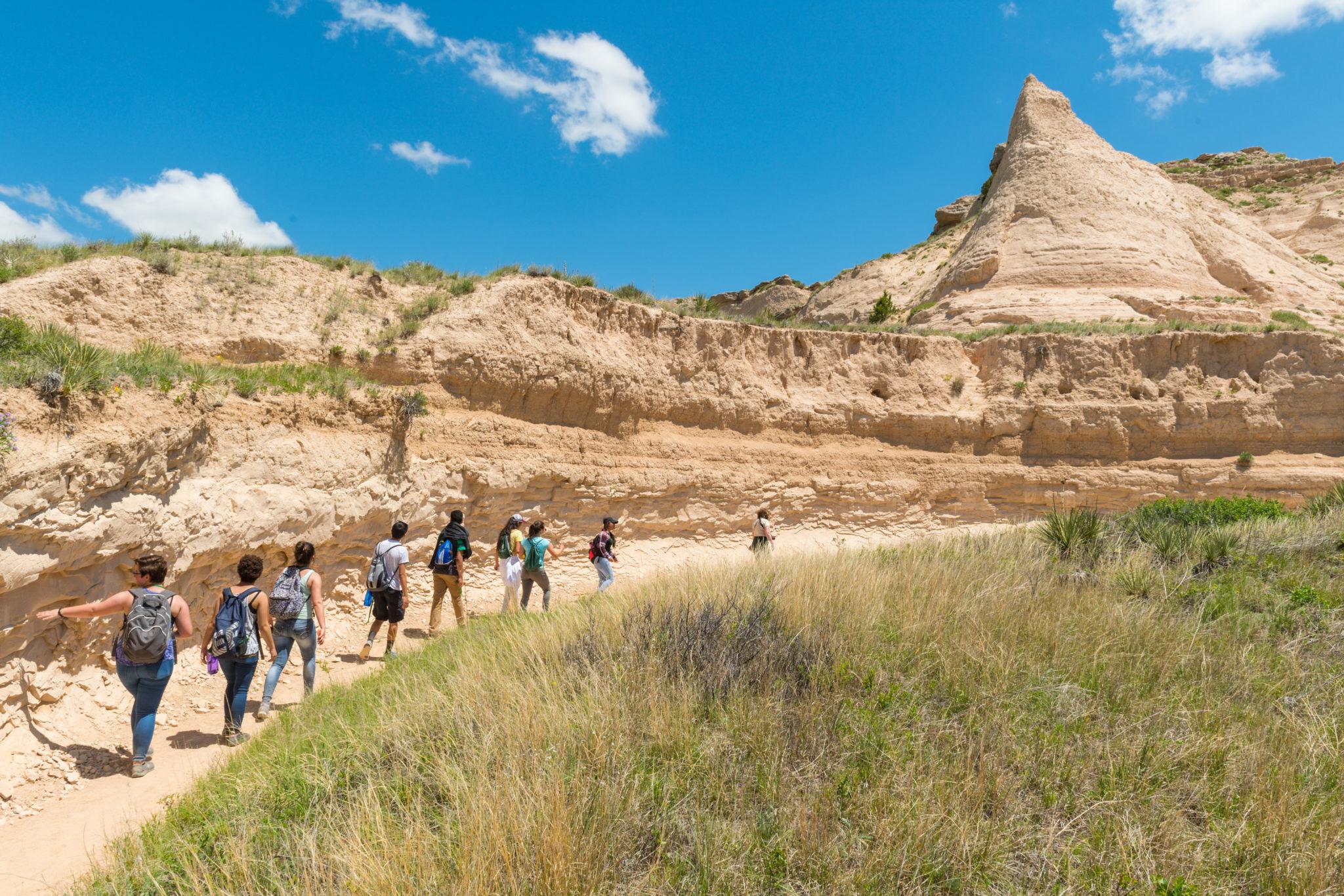 Latino students visit grasslands in Colorado.