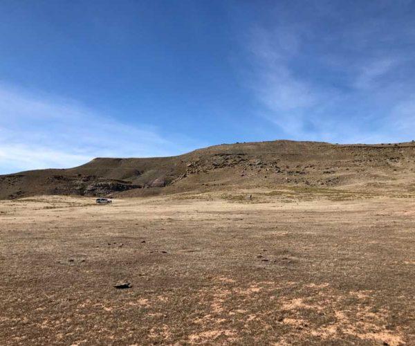 barren salt desert