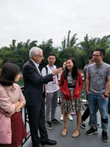 MTM-China students and Asst. Prof. Xiong with the Director of the UNWTO