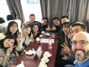 Knight with MTM-China students