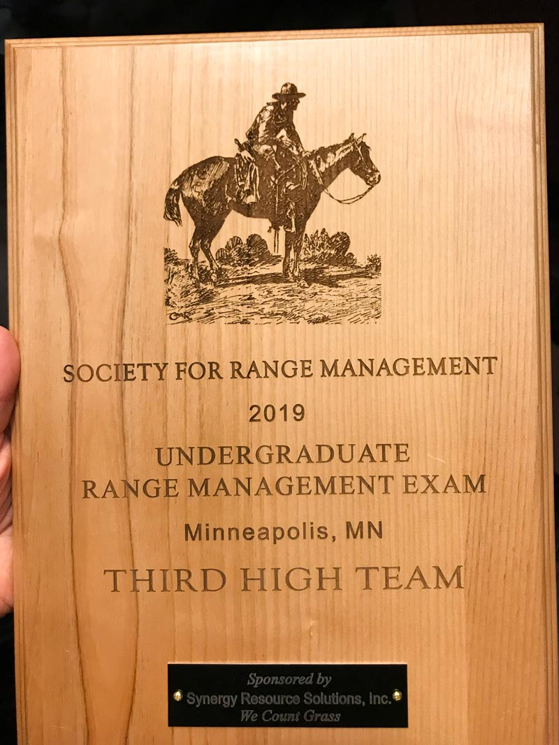 Wooden rangeland exam award