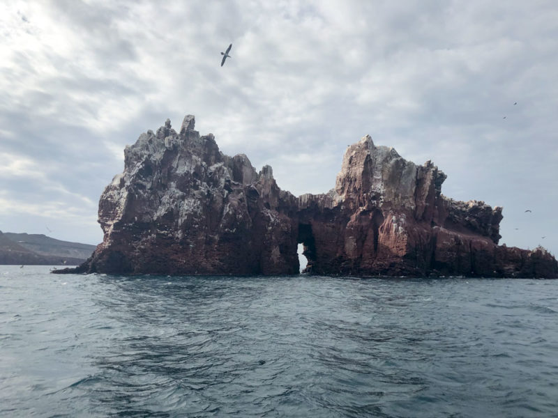 rock formation in the ocean