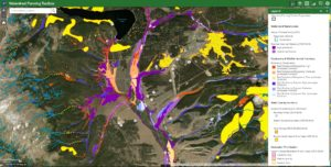 GIS map of wetlands from the Colorado Wetland Information Center tools