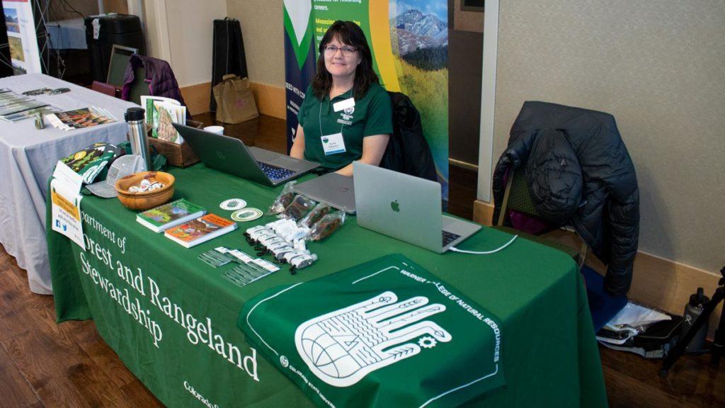 Forest and Rangeland Stewardship booth