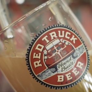 a beer is poured at Red Truck Beer in Fort Collins