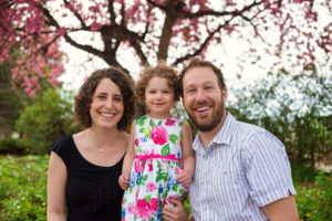 Rebecca Gruby, daughter Adina and husband Matthew Bowers