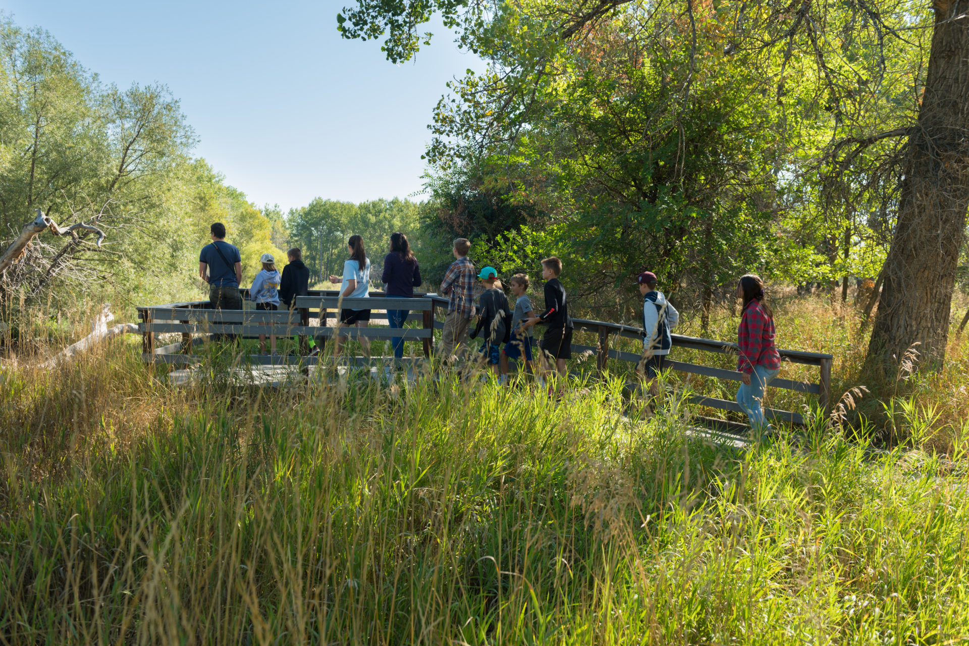 Students explore the Environmental Learning Center