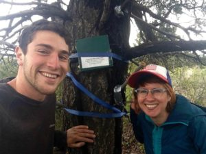 Trent Hawkins and Rachel Buxton measure human-caused noise in national parks