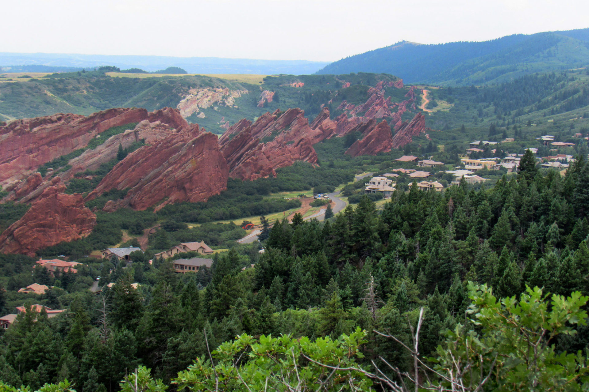 An aerial view of the Roxborough neighborhood near Denver, Colorado