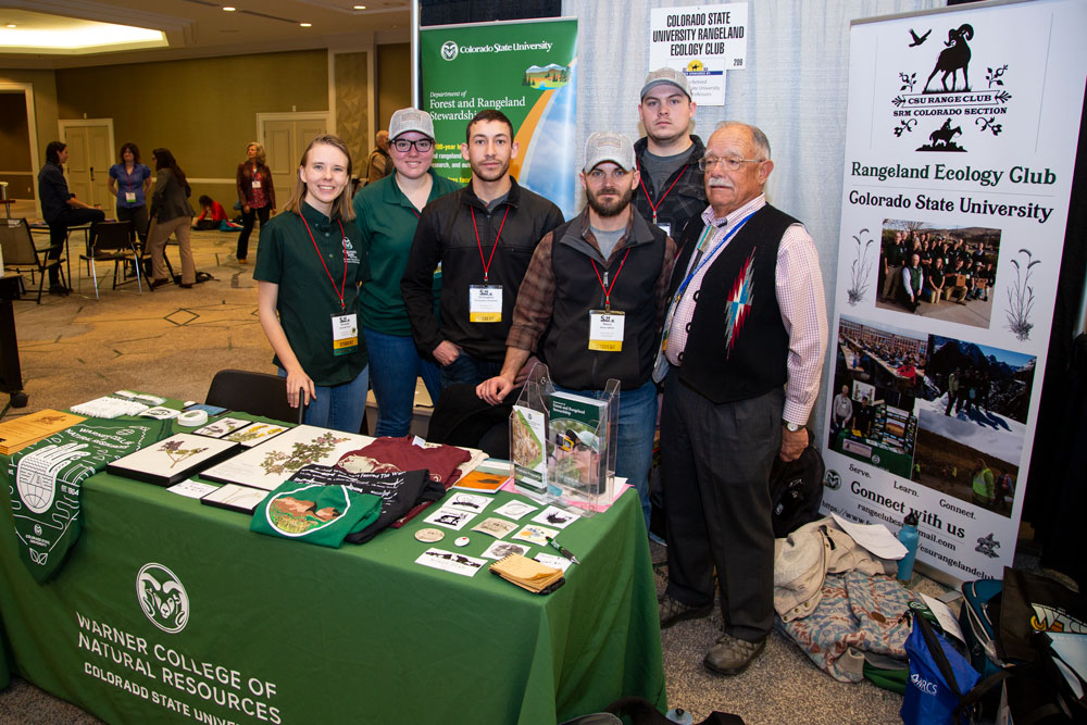 CSU range student booth at SRM 2020