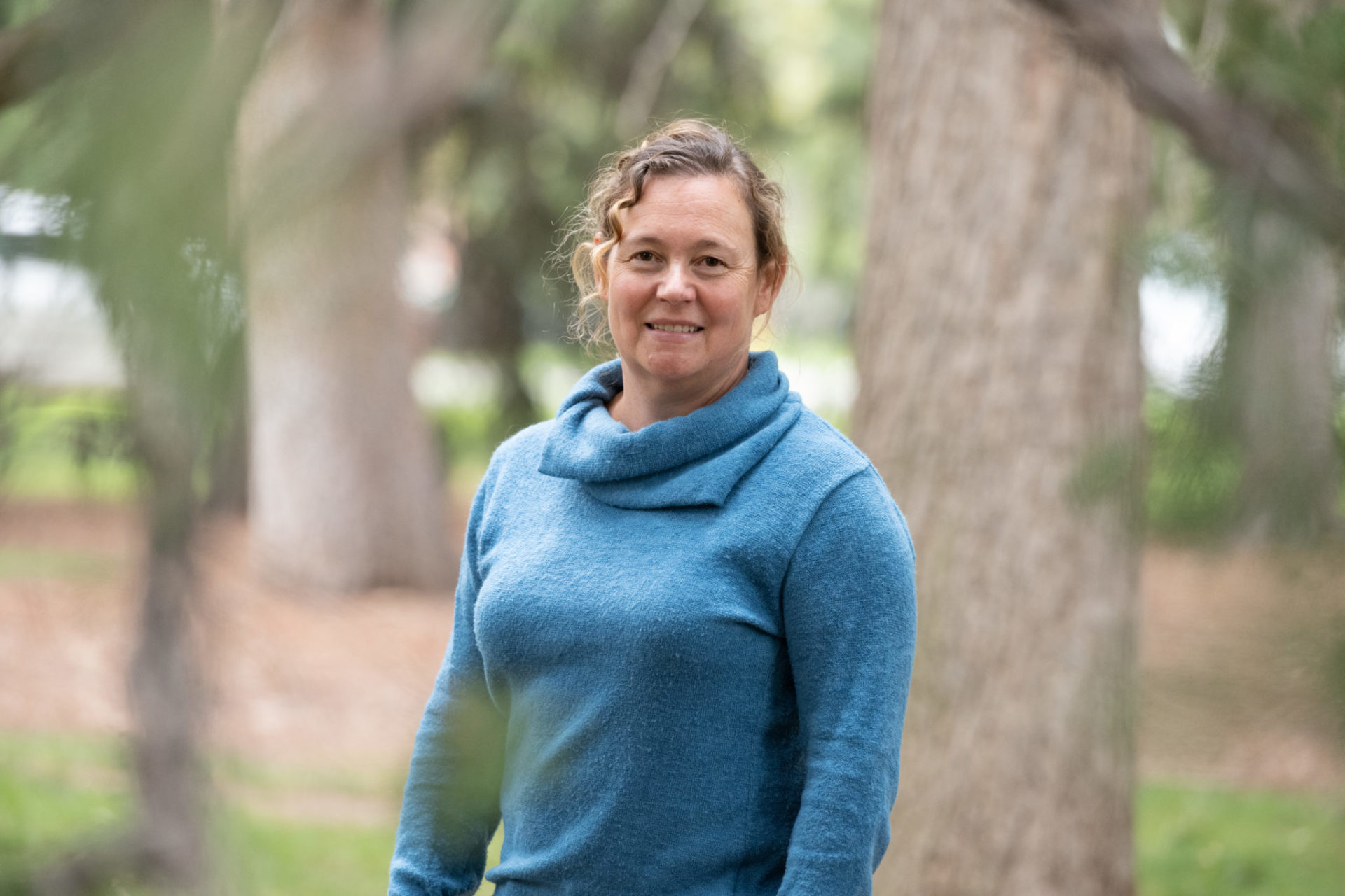 Monique Rocca in Sherwood Forest on the CSU campus