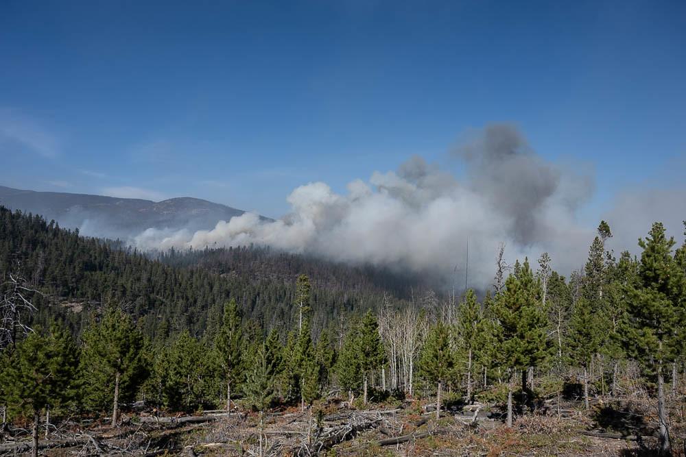 Cameron Peak Fire above CSU's Mountain Campus