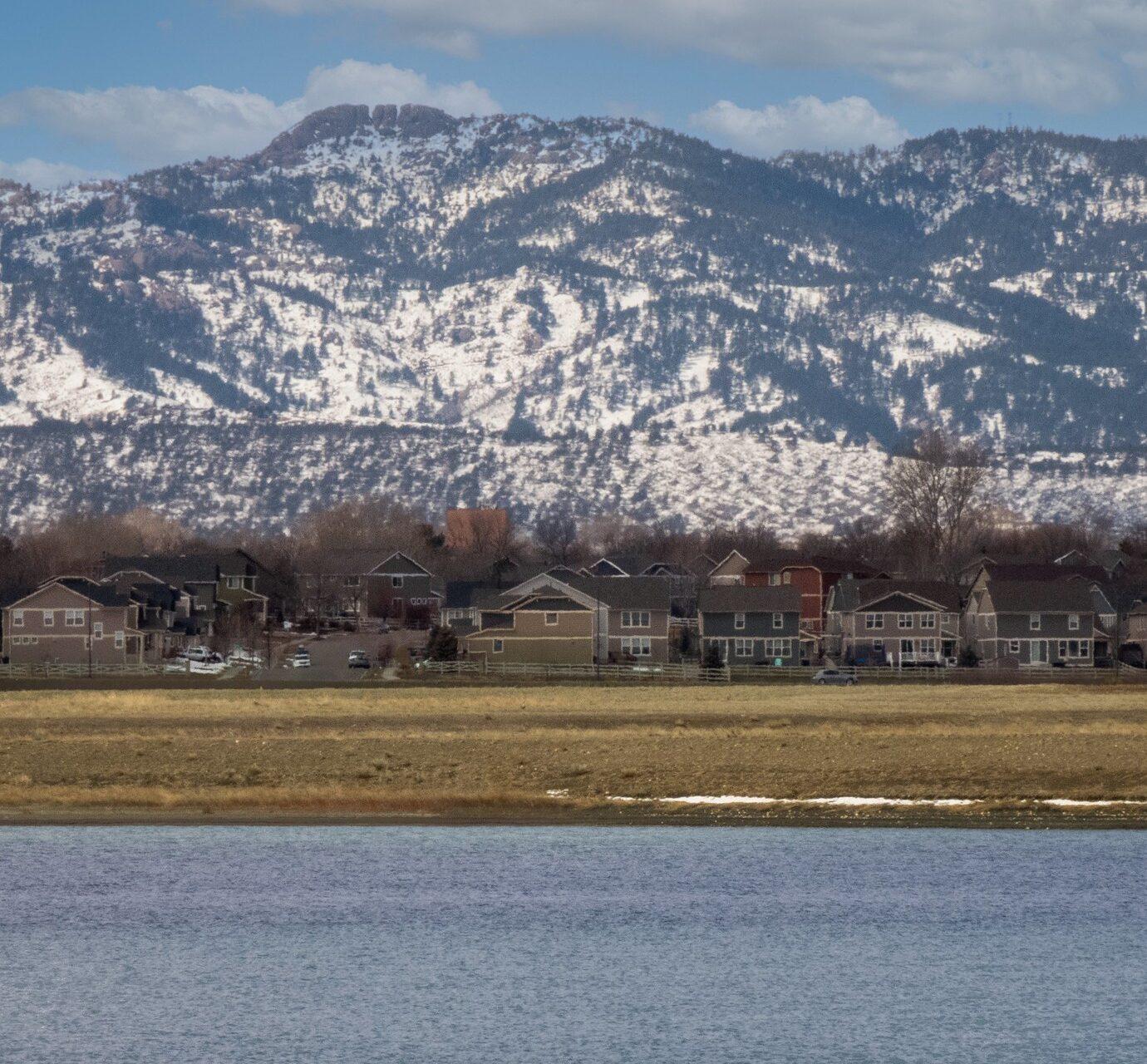 Foothills from Rigden Reservoir in Fort Collins