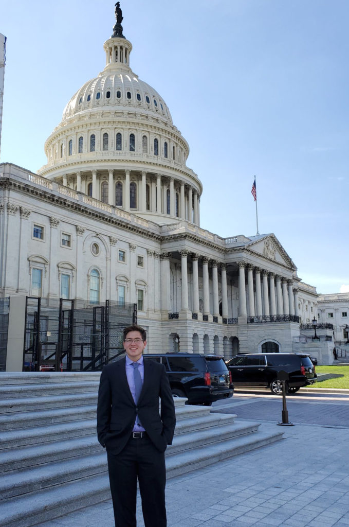 Diego Tovar standing outside U.S. Capitol