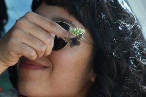 Katiana Garcia with butterflies