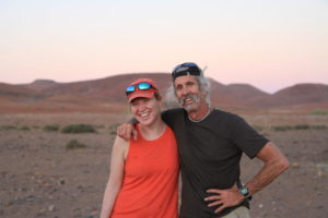 Theresa Laverty and Joel Berger in the Namib Desert