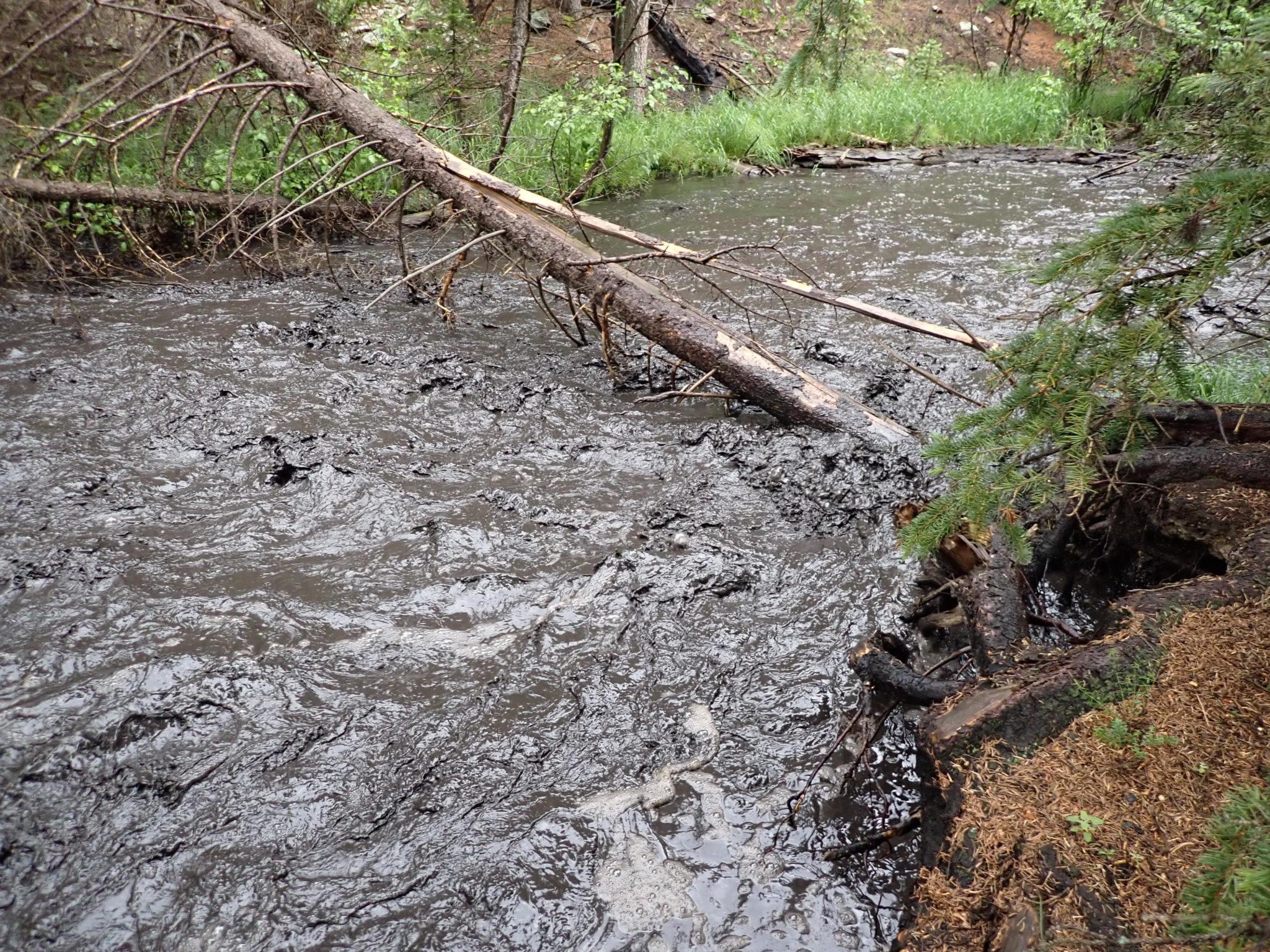 Little Beaver Creek after rains June 30